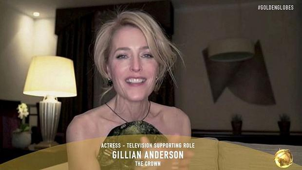 "Gillian Anderson the Best Actress in a Television Supporting Role for ""The Crown""  021 NBC via Reuters"