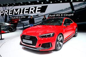The new Audi RS 5 Coupe is seen during the 87th International Motor Show at Palexpo in Geneva, Switzerland, March 7, 2017. REUTERS/Arnd Wiegmann