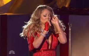 Mariah Carey singing 'All I Want for Christmas' at the Rockefeller Centre