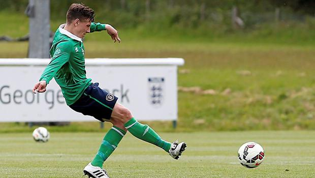 20 June 2015; Luke Evans, Ireland, scores his side's eight and final goal from the penalty sopt. This tournament is the only chance the Irish team have to secure a precious qualifying spot for the 2016 Rio Paralympic Games. 2015 CP Football World Championships, Ireland v Portuga. St. George's Park, Tatenhill, Burton-upon-Trent, Staffordshire, United Kingdom. Picture credit: Magi Haroun / SPORTSFILE