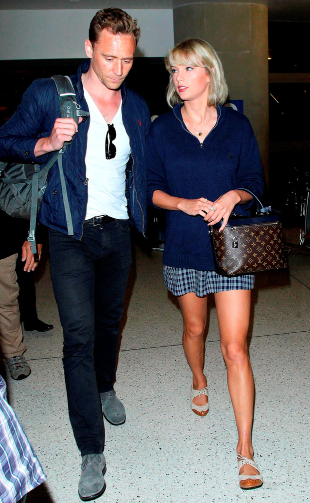 Tom Hiddleston and Taylor Swift at LAX Airport, Los Angeles, last Wednesday Photo: Broadimage/REX/Shutterstock
