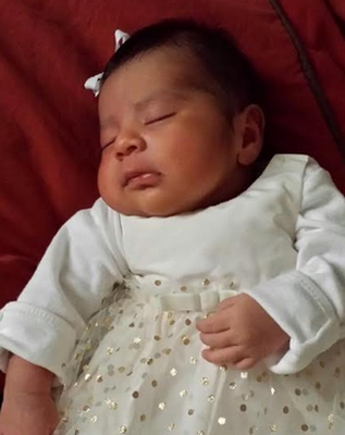 Missing infant, who weighs about 10 pounds, has been identified as Eliza Delacruz.