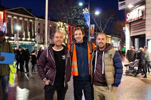 Padraic Rocliffe (middle) with other Shine A Light volunteers