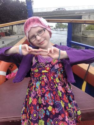 Grace Kenneally who has suffered a setback in her battle against Neuroblastoma.