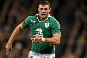 Robbie Henshaw captained Marist College to the Connacht Senior Cup in 2012 - now he is featuring at the top level for Ireland. Photo: Brendan Moran / SPORTSFILE