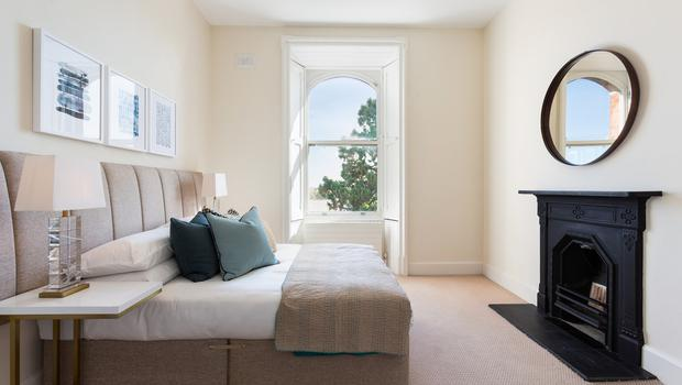 A serene bedroom at Convent Hall