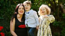 Triona McCarthy pictured with her children Maxi and Mini ahead of 'Celebrity Operation Transformation'. Photo: Gerry Mooney