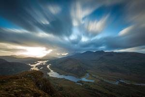 """This is the view of the Upper Lake and Long Range from the top of Torc mountain in Killarney,"" says Terry MacSweeney. ""I love the way this vista opens up only when you reach the summit, a great reward for the effort expended. It is well etched in my memory having lugged my tripod up here to take this long exposure photo."""