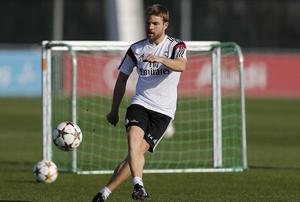 Asier Illarramendi of Real Madrid in action during a training session