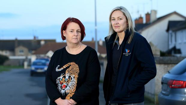HOPE: Drogheda youth justice workers Denise Tuohy and Nicola McGee in St Finian's Park. Photo: Frank McGrath