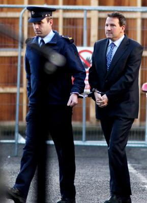 Graham Dwyer of Kerrymount Close, Foxrock, Dublin 18, who was found guilty of the murder of childcare worker Elaine O'Hara , (36 yrs.) , whose remains were found in the Dublin mountains on August 22, 2012. PIC: COURTPIX