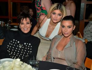 Kim Kardashian West, Kylie Jenner, Khloe Kardashian and Kris Jenner, Kylie Jenner and Kim Kardashian West host a  dinner and preview of their new apps launching soon at Nobu Malibu on September 1, 2015 in Malibu, California.  (Photo by Charley Gallay/Getty Images for Kardashian/Jenner Apps)