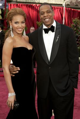 Beyonce and Jay-Z at the Kodak Theatre in Hollywood, California (Photo by Kevin Mazur/WireImage)