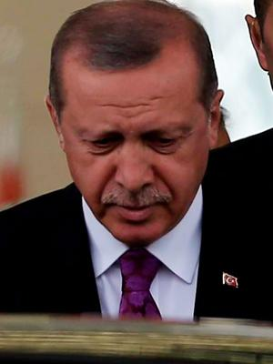 Turkish President Recep Tayyip Erdogan, whose AKP party failed to get a majority in Sunday's election