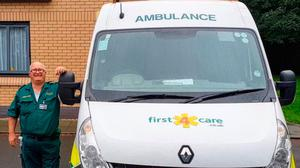 Charlie Goodwin, an ambulance worker of two decades, who died after being diagnosed with coronavirus Photo credit: Daniel and Julie Goodwin/first4care/PA Wire