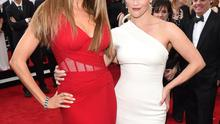 LOS ANGELES, CA - JANUARY 25:  Actors Sof??a Vergara (L) and Reese Witherspoon attend TNT's 21st Annual Screen Actors Guild Awards at The Shrine Auditorium on January 25, 2015 in Los Angeles, California. 25184_014  (Photo by Dimitrios Kambouris/WireImage)