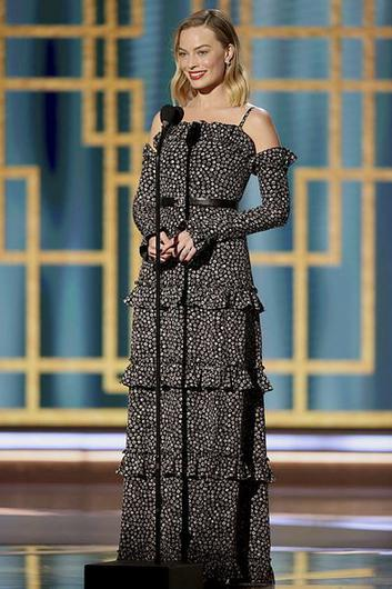 Margot Robbie at the 78th Annual Golden Globe Awards in Beverly Hills NBC Handout via REUTERS