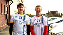 Eighteen-year-old Jonathan O'Neill jr lined up with his father Jonathan (42) for Wicklow against Louth on Sunday