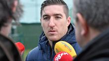 Stephen Ward speaks to the media