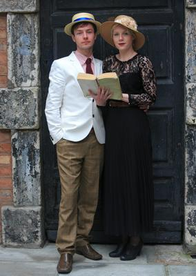 Tadhg Casey from  Kerry Sarah Ryan from Lucan during Bizzare Bloomsday Brunch as part of the Bloomsday Festival on North Great Georges street, Dublin