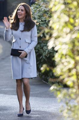 January 19: Her baby blue Seraphine coat is one of her best looks yet.