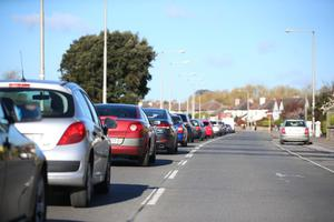 Tailbacks have been reported across the capital (picture Mark Condren)