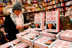 Copies of the book 'Fire and Fury: Inside the Trump White House' by author Michael Wolff on sale at the Book Culture book store in New York. Photo: Reuters