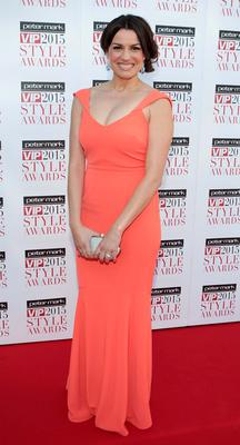 Caroline Morahan on the Red Carpet at The Peter Mark VIP Style Awards 2015 at The Marker Hotel,Dublin. Pictures Brian McEvoy