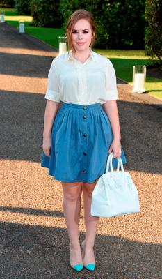 Tanya Burr attends the Vogue and Ralph Lauren Wimbledon party at The Orangery on June 22, 2015 in London, England.  (Photo by Stuart C. Wilson/Getty Images)