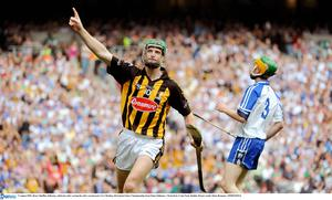 Henry Shefflin, Kilkenny, celebrates after scoring his side's second goal in their All-Ireland Senior Championship Semi-Final win over Waterford in 2009