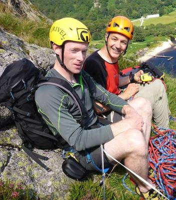 Colm Ennis (L) and Peter Britton Credit: Facebook/Rathgormack Climbing Club