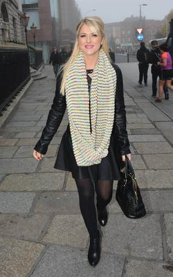 Susan McFadden spotted in high spirits with a female friend walking on St Stephen's Green with a female friend. Dublin, Ireland - 20.11.14.