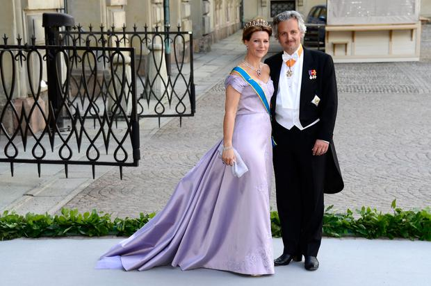 Princess Martha Louise of Norway and Ari Mikael Behn attend the wedding of Princess Madeleine of Sweden and Christopher O'Neill hosted by King Carl Gustaf XIV and Queen Silvia at The Royal Palace on June 8, 2013 in Stockholm, Sweden.  (Photo by Pascal Le Segretain/Getty Images)