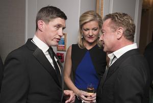 Pictured: Ronan O'Gara talks to Michael Flatley and his wife Niamh O'Brien Photographer: Will Oliver