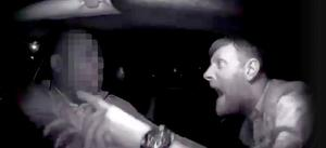 In these stills from Samuel Johnson's dashcam video, the passenger can be seen verbally and physically abusing the driver of the taxi
