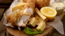 Battered Fish with Chunky Chips