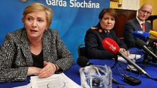 INCREASED PUNISHMENT FOR REPEAT OFFENDERS: That will be the aim of planned legislation from Justice Minister Frances Fitzgerald, seen above with Garda Commissioner Noirin O'Sullivan