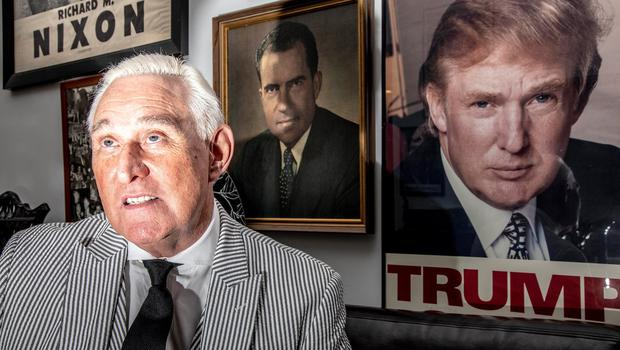 Roger Stone with some of his political memorabilia. Photo: Mark Peterson