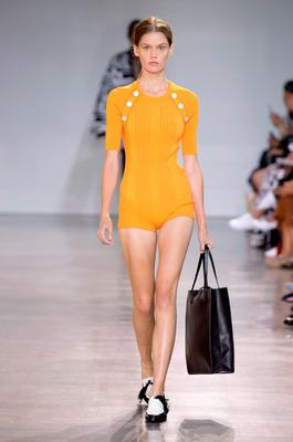 A model walks the runway at the Edun Spring 2016 fashion show during New York Fashion Week at Spring Studios on September 13, 2015 in New York City.  (Photo by JP Yim/Getty Images)