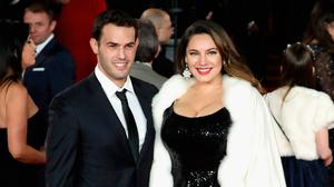 Jeremy Parisi and Kelly Brook attend the 'Murder On The Orient Express' World Premiere at Royal Albert Hall on November 2, 2017 in London, England.  (Photo by John Phillips/Getty Images)