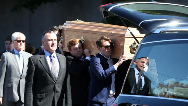 Mourners at the funeral of Berkeley tragedy victim Eoghan Culligan at the Church of the Annunciation, Rathfarnham. 23/6/2015