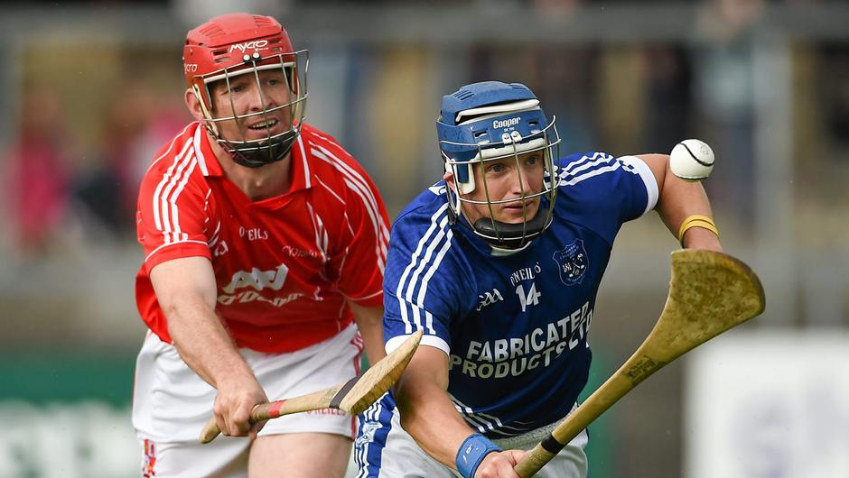 Gearoid Considine in action (right) for Cratloe against Crusheen's Cathal Dillon during the 2014 Clare SHC final at Cusack Park, Ennis, Co Clare. Photo: Diarmuid Greene / SPORTSFILE