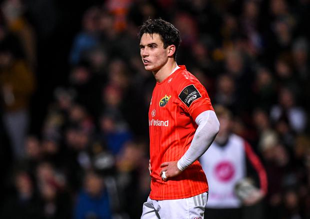 3 January 2020; Joey Carbery of Munster during the Guinness PRO14 Round 10 match between Ulster and Munster at Kingspan Stadium in Belfast. Photo by Harry Murphy/Sportsfile