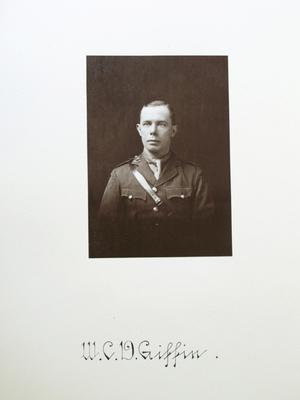 Portrait of William Charles Disraeli Giffin, Guinness Brewery employee, in army uniform from First World War