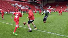 Liverpool was the venue for the culmination of Carlsberg's 'Join The Greats' Campaign. 20 Irish fans won a VIP trip over to see Liverpool's home game against QPR and also the once in a lifetime opportunity to #JoinTheGreats and play on the hallowed Anfield turf. Check it out on @Carlsberg on Twitter or under the hashtag #JoinTheGreats