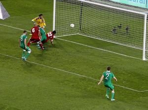 Ireland's Jon Walters scores the first goal of the game