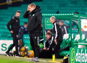 Celtic manager Neil Lennon on the touchline. Photo: Jeff Holmes/PA Wire