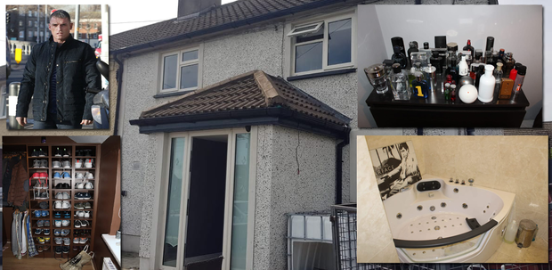 More than 40 bottles of aftershaves, over 40 pairs of runners, a hot tub and a Tony Montana poster were among the items at Jason Boyle's (inset) home