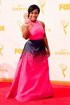 Actress Uzo Aduba attends the 67th Annual Primetime Emmy Awards at Microsoft Theater on September 20, 2015 in Los Angeles, California.  (Photo by Frazer Harrison/Getty Images)