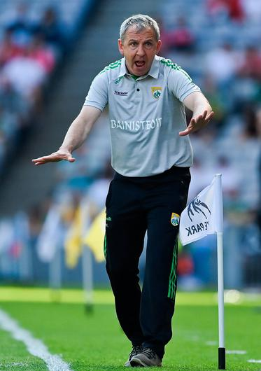 Kerry manager Peter Keane reacts in All-Ireland SFC's semi-final loss to Tyrone.  Photo by Brendan Moran / Sportsfile